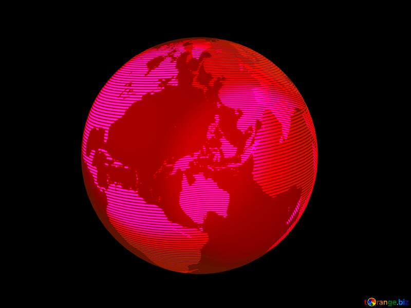 Modern global world earth concept planet symbol 3d red №54515