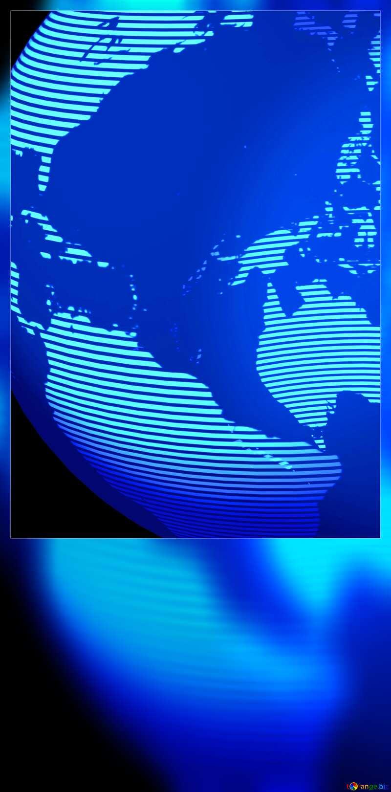 Modern global world earth concept planet symbol blank card №54515