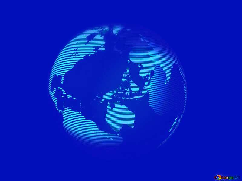 Modern global world earth concept planet symbol Blue background №54515