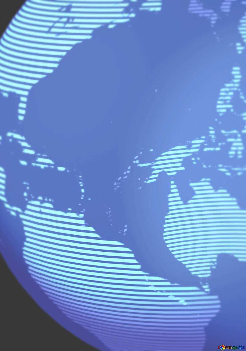 Modern global world earth concept planet symbol Blue Blurred Background №54515