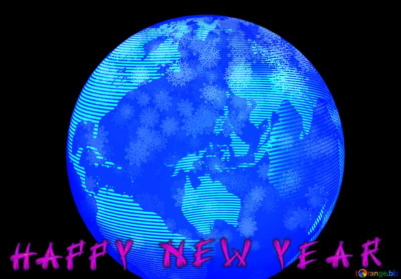 Modern global world earth concept planet symbol Happy New Years №54515