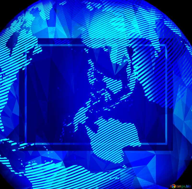 Modern global world earth concept planet symbol Template Geometrical №54515