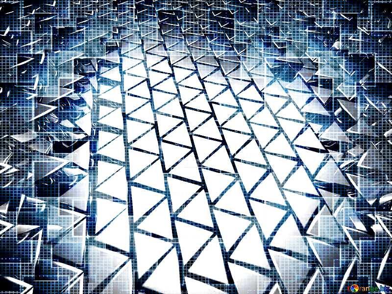 3D abstract geometric volumetric triangle metal background Modern Techno Technology Tech Computer Pattern №54502