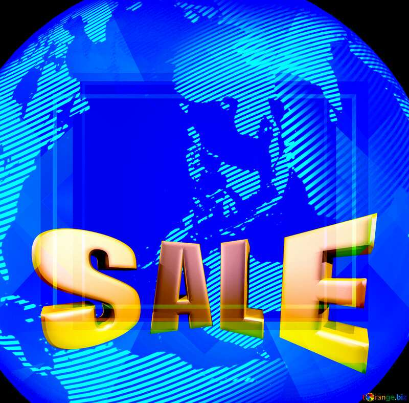 Modern global world earth concept planet symbol Sales discount promotion sale template №54515
