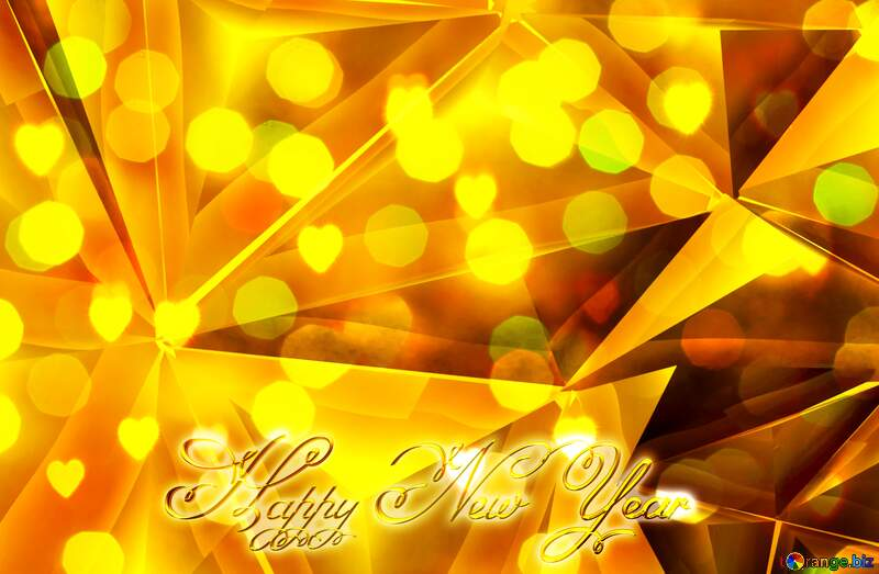 Polygon Happy New Year 3d background №51586