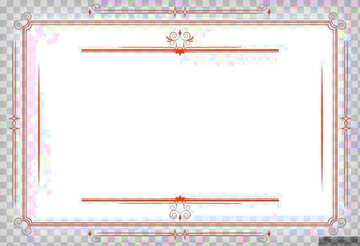 Vintage frame retro clip art stained red