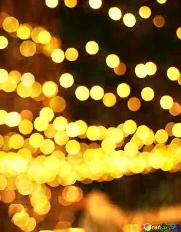 Christmas city street  bokeh lights twinkling stars