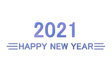 Shiny happy new year 2020 background blue