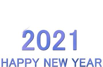 Shiny happy new year 2021 background blue bottom