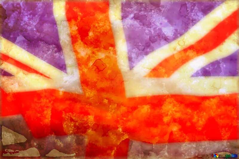 Ancient paper United Kingdom flag №29140
