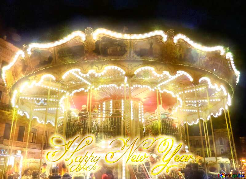 Christmas Carousel merry go round  happy new year №54098