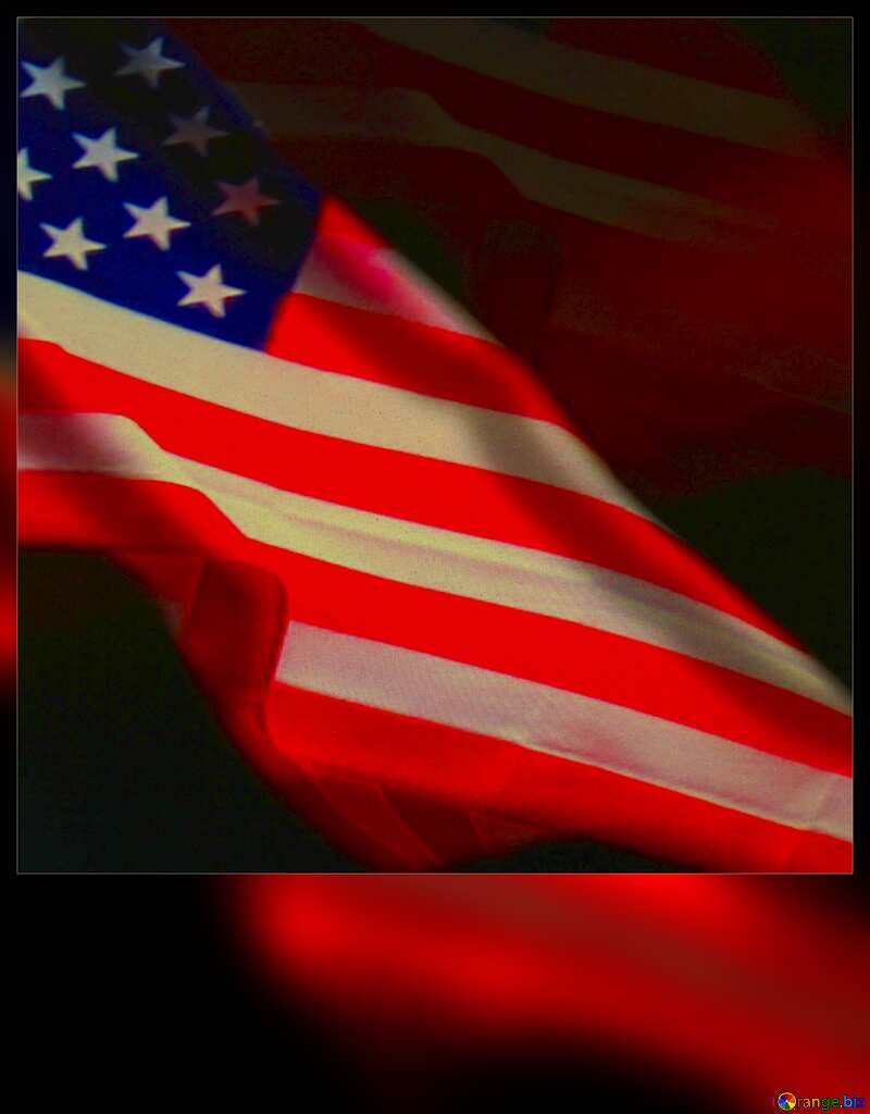American Flag dark background USA blank card №52480