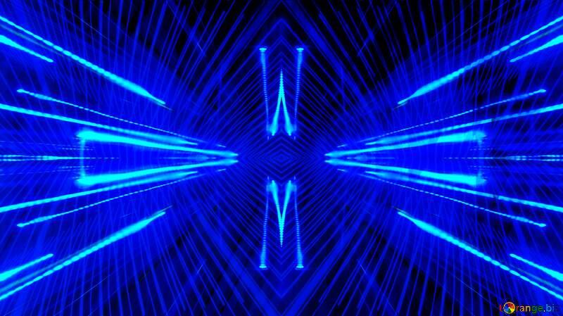 Blue Background Dark Futuristic Technology Template Techno neon blue Lights №51526