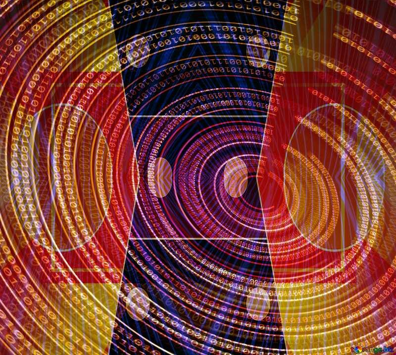 Digital Binary data. Futuristic infographic background Business design orange pattern №49672