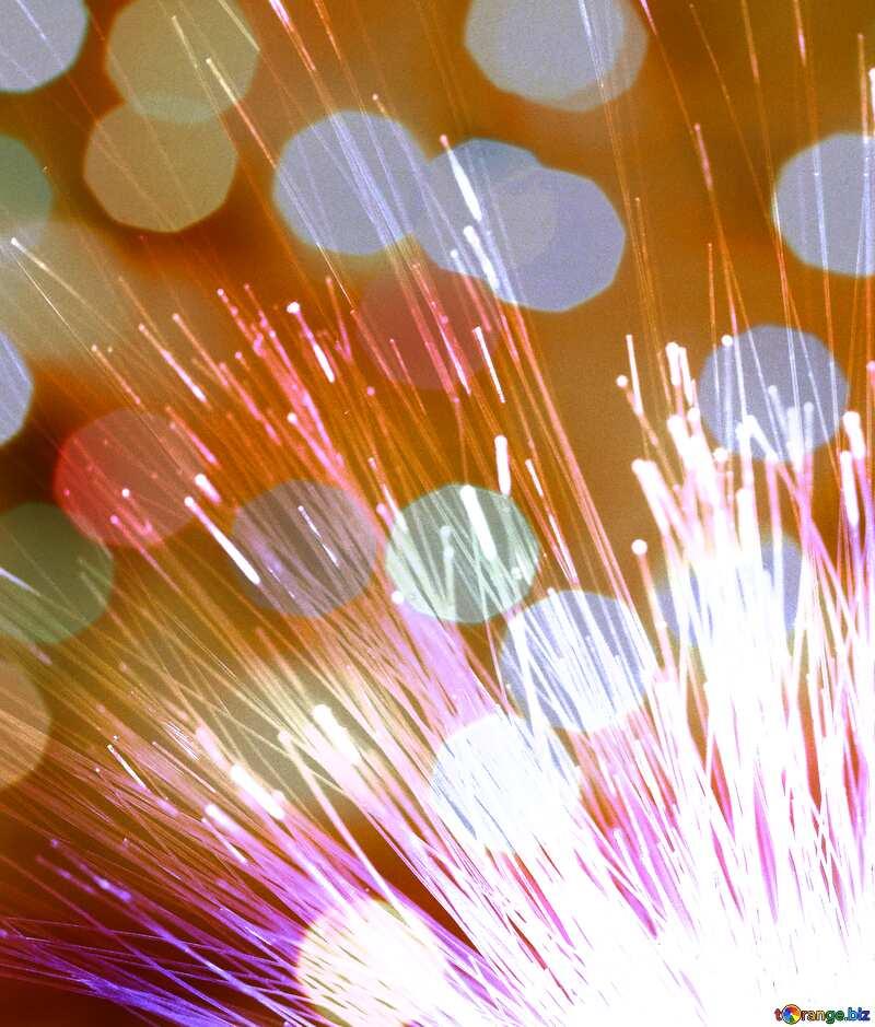 Transmission of data over an optical fiber Bokeh background №41328