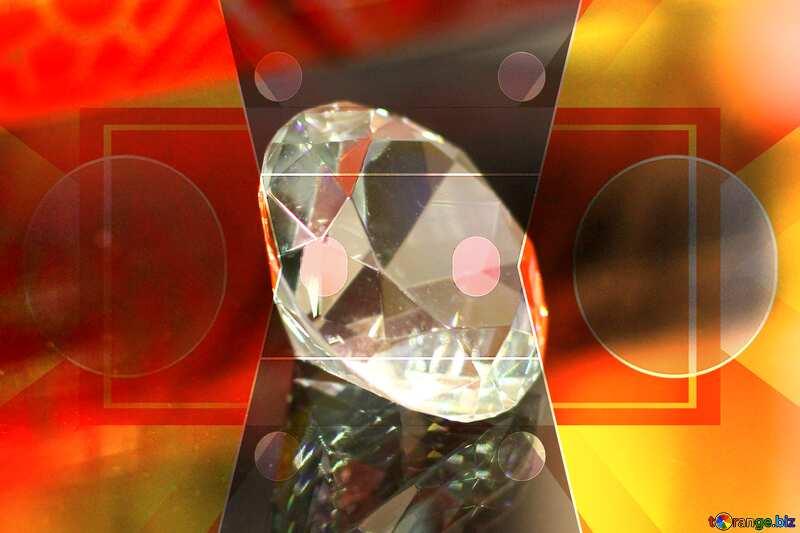 diamond Polygonal triangles techno background Orange Business layout design pattern №52795