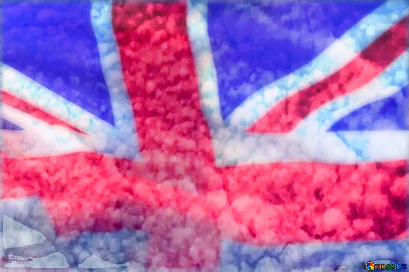Clouds in the sky United Kingdom flag №39297