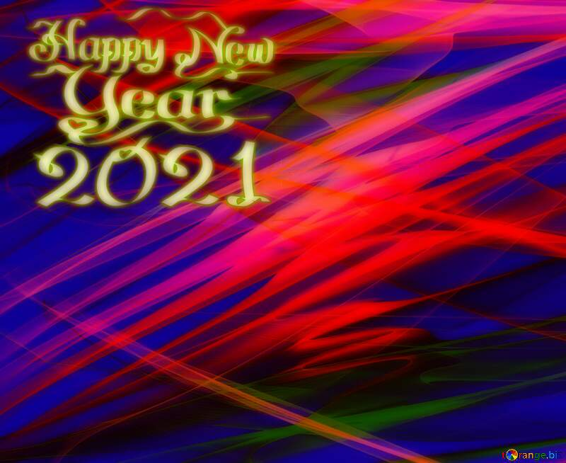 Colorful dark fractal background happy new year 2021 №40596