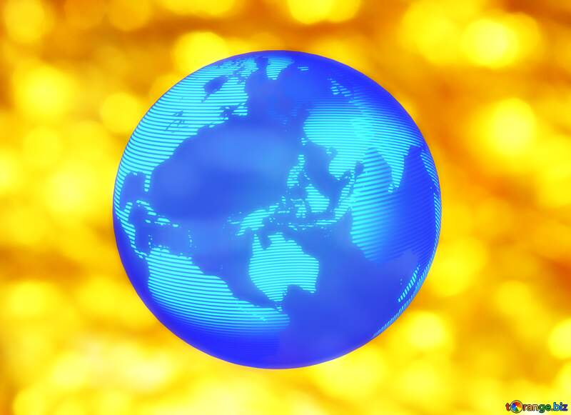 Golden background of the Christmas and new year Modern global world earth concept planet symbol dark blue №37824