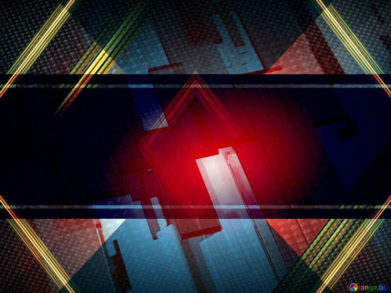 Creative 3d abstract squares lines modern red background carbon gold geometry frame №54512