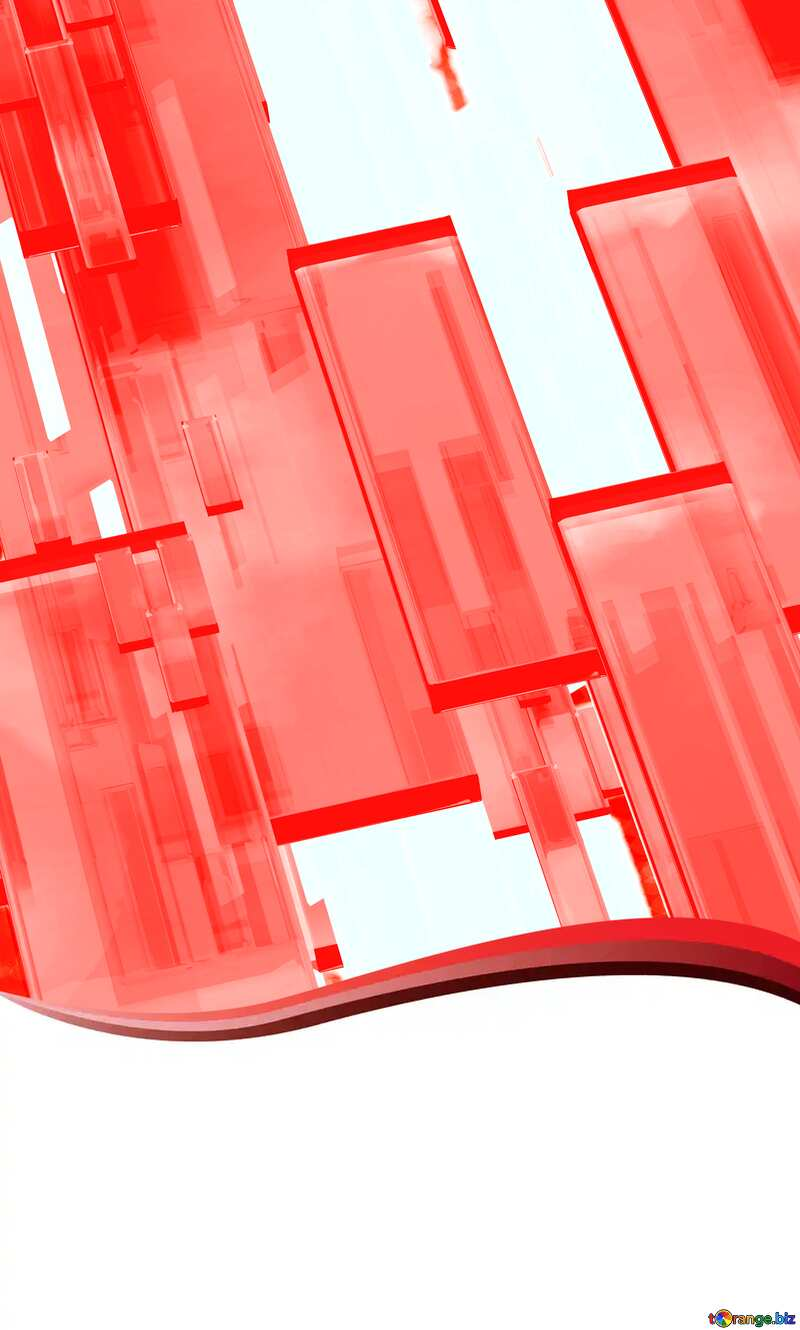 Creative 3d abstract squares lines modern red background Curved Border Creative Card №54512