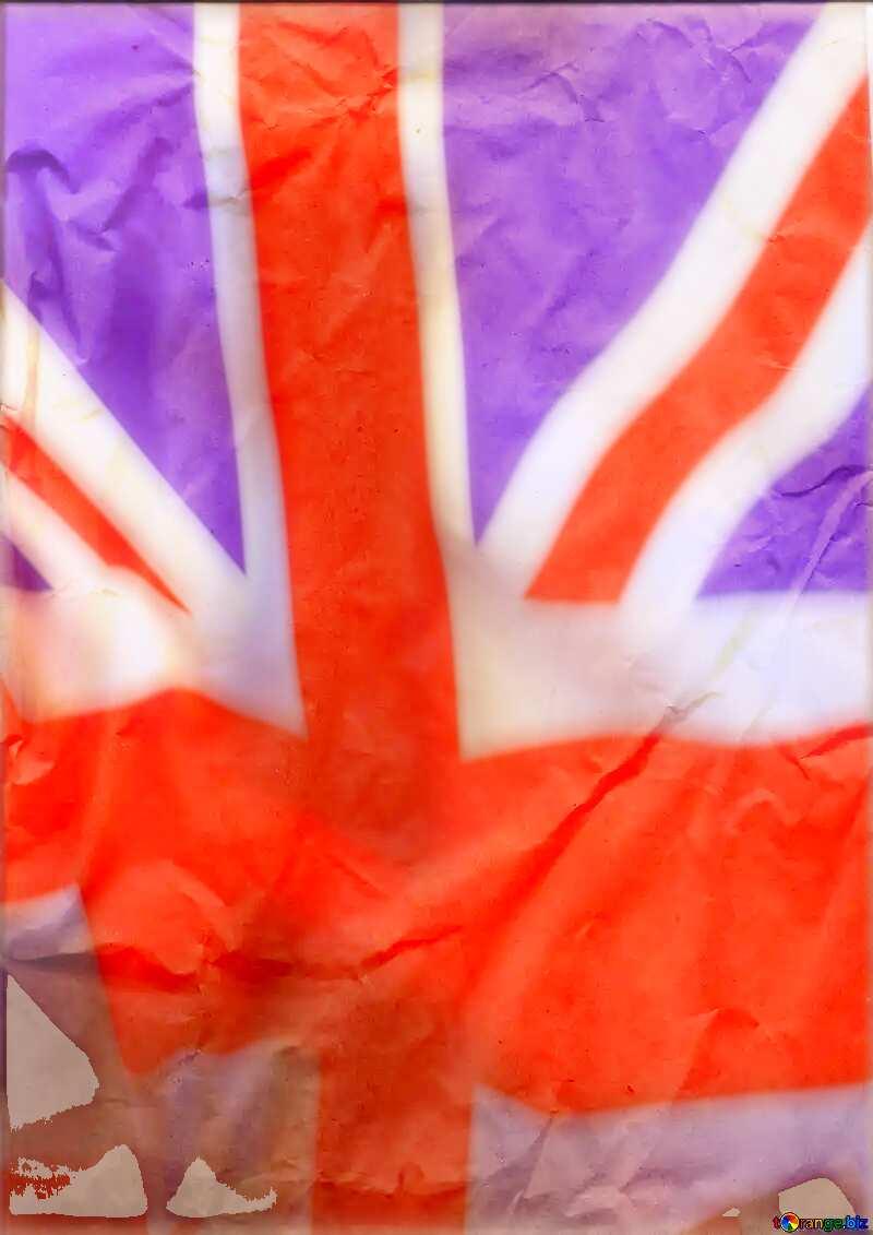 Crumpled paper United Kingdom flag №44737