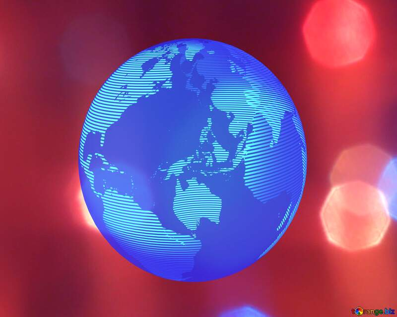 Bright background lights red world earth №24606