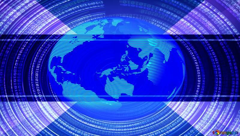 Digital Binary data World earth Futuristic infographic background №49672