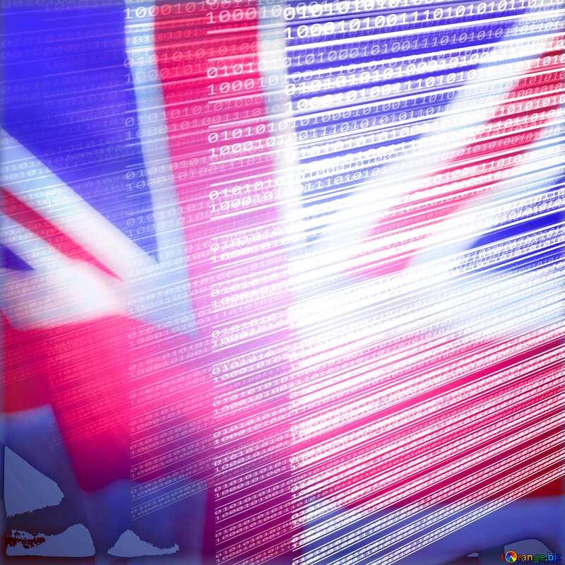 Digital computer internet media background England flag №49673