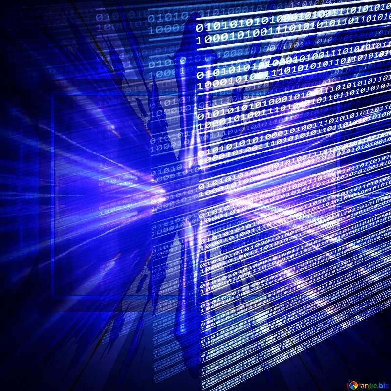 Digital computer internet media background Techno neon blue Lights №49673