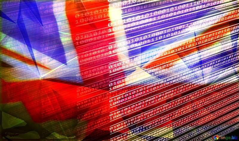 Digital computer internet media background United Kingdom flag №49673