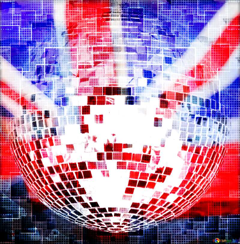 Disco ball lamp United Kingdom flag №53395