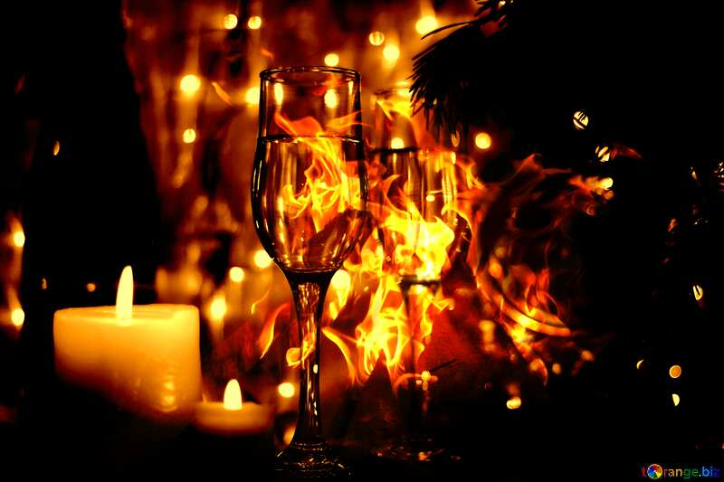 New Year`s Eve dark sepia №24683