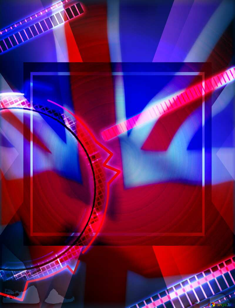 Futuristic design concept for business information background United Kingdom flag №49679