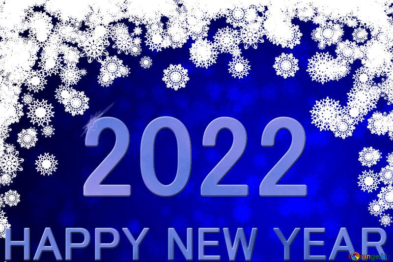 Blue background Christmas and new year Happy New Year 2022 №40710