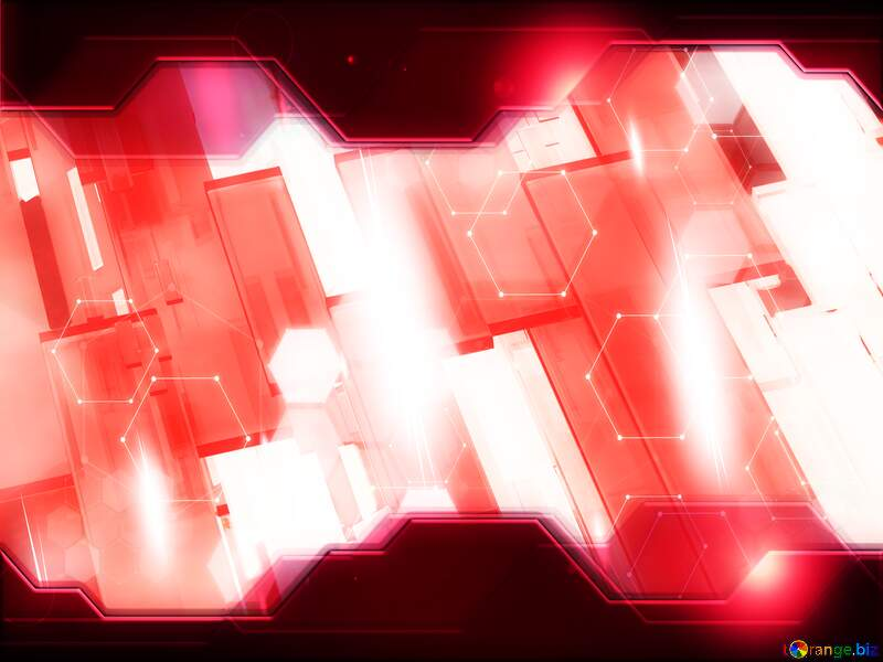 Creative 3d abstract squares lines modern red background Hi-tech Technology Business Concept №54512