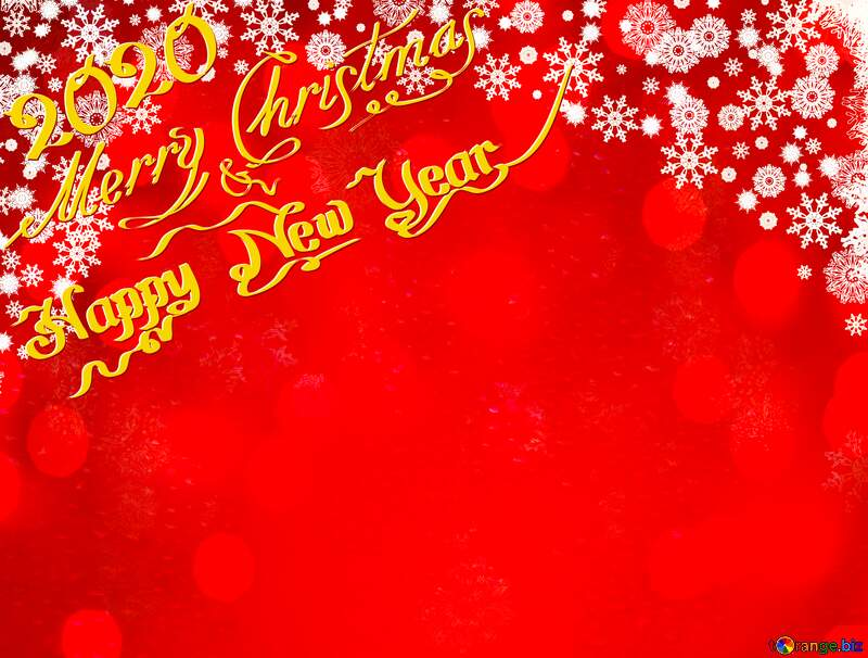 Red Christmas background 2020 №40659