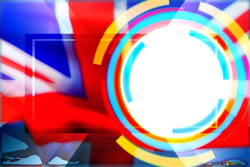 Infographics circle frame England flag №49680