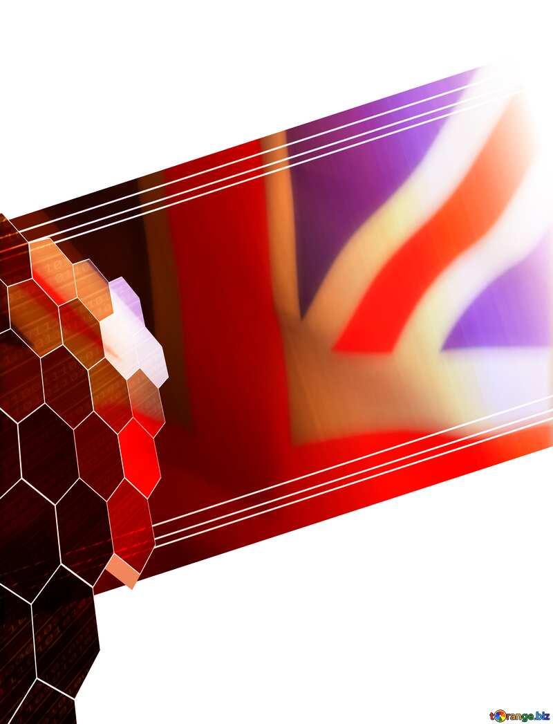 it business information technology concept background United Kingdom flag №49674