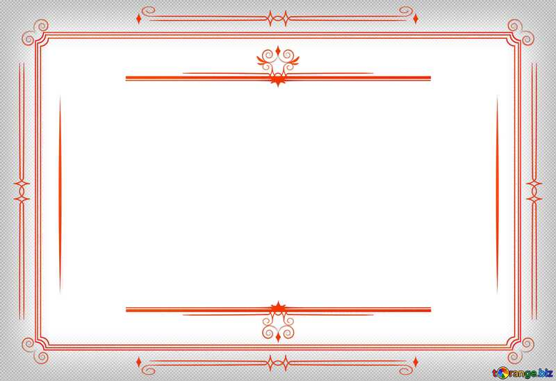 Vintage frame retro clip art stained red №54468