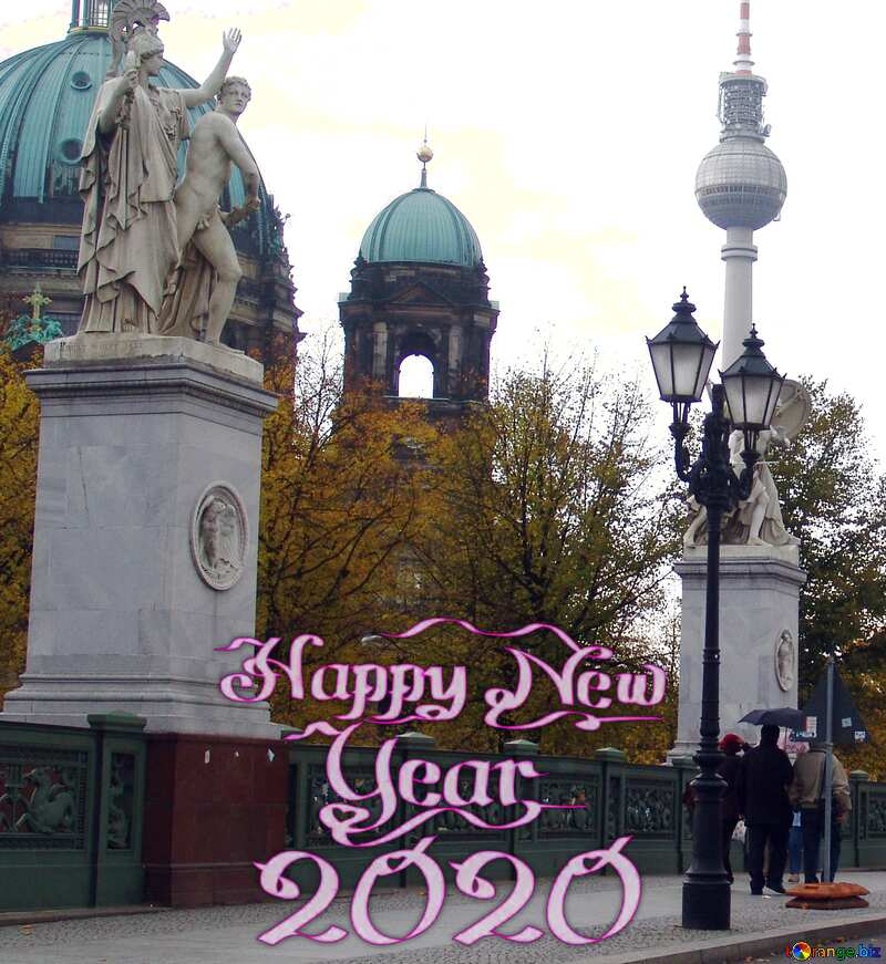Berlin Sculpture happy new year 2020 №11537