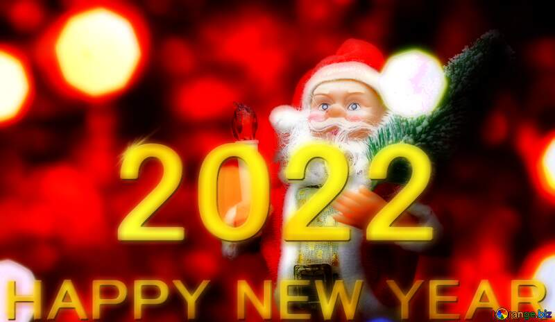 Santa Claus toy Christmas concept 2021  Happy New Year 3d gold №48170