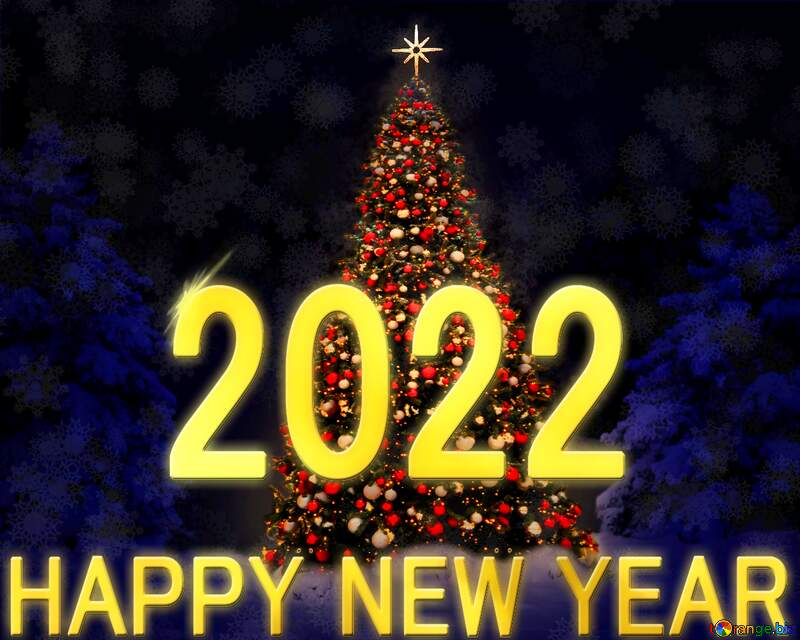 Christmas tree happy new year 2021 №40739