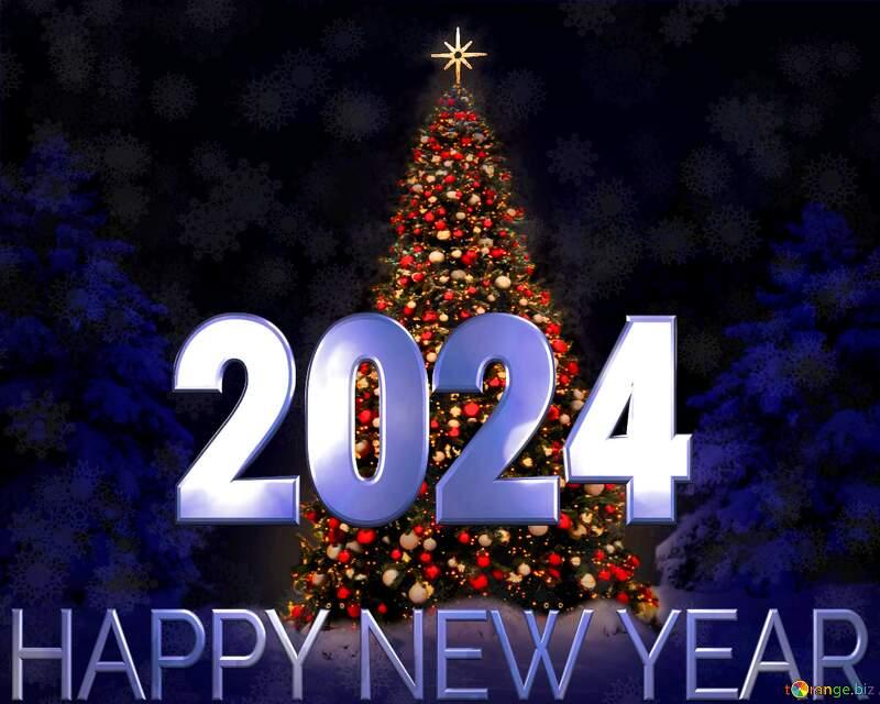 Christmas tree happy new year 2021 blue №40739