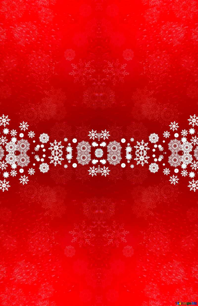 Red Christmas snowflakes background pattern №40659