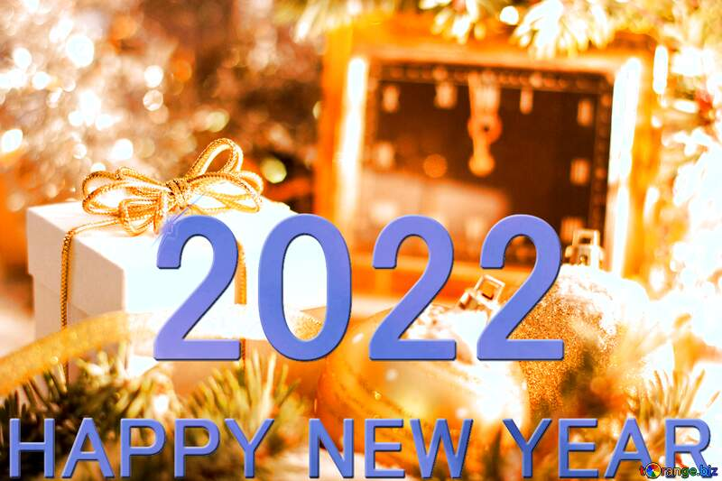 Greeting card with new year 2021 blue №15364