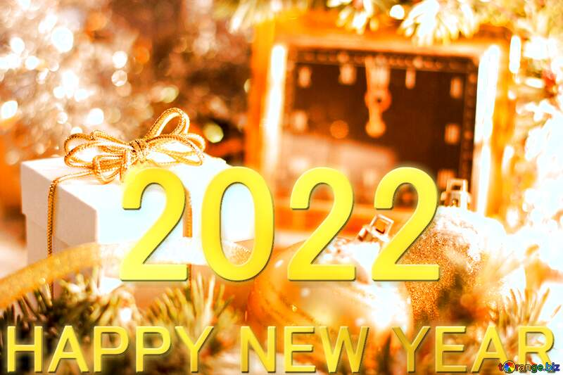 Greeting card with new year 2020 gold №15364