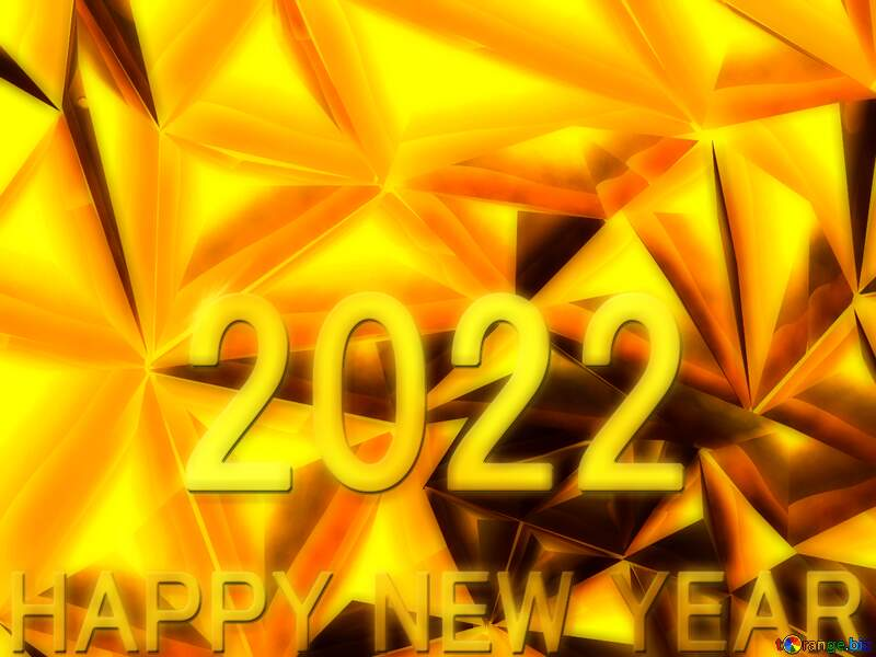 Polygon gold background Happy  New  year.  2021 №51586