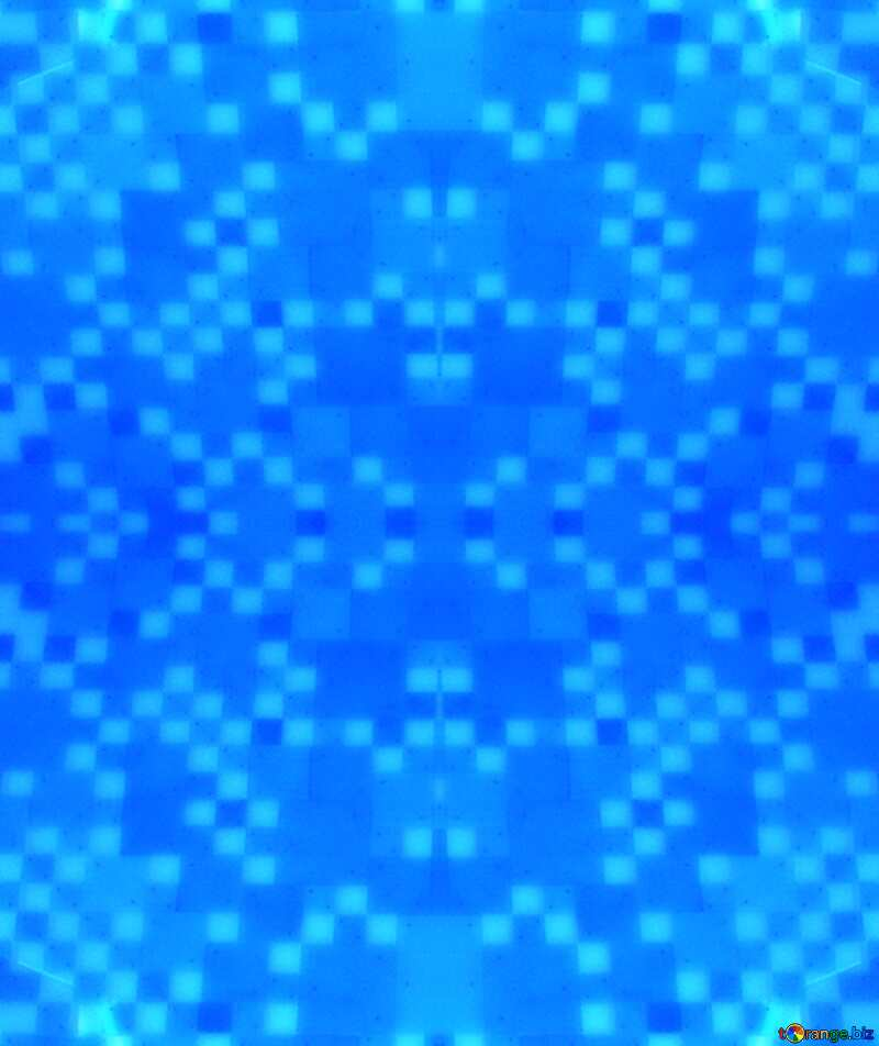 Mosaic blue  pattern №7067