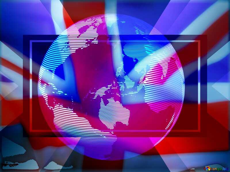 Modern global world earth concept planet symbol England flag №54515